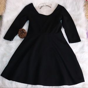 Black Ultra Flirt Dress With Bow On The Back